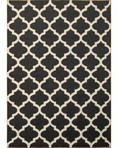 Moroccan Flat Weave Black/White