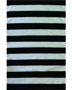 Stripe Flat Weave Black & White