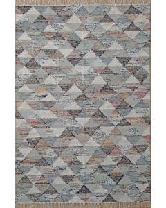 Triangle Flat Weave Grey