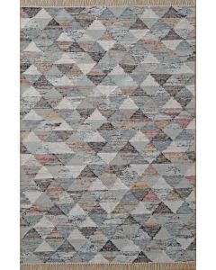 Triangle Flat Weave Grey