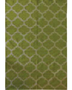 Moroccan Flat Weave Lime/White